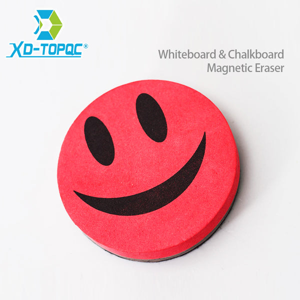 XINDI 2018 Smile Face Whiteboard Eraser 4 Colors Magnetic Board Erasers Wipe Dry School Blackboard Marker Cleaner Free Shipping