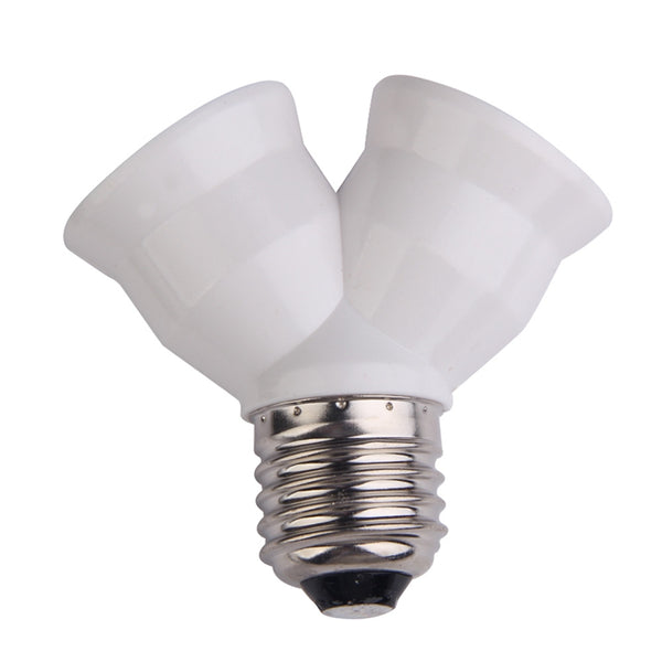 2 in 1 E27 Y Shape Lamp Base  Fireproof Material Holder Converter Socket Light Bulb Splitter Adapter Light Bulb Base Holder