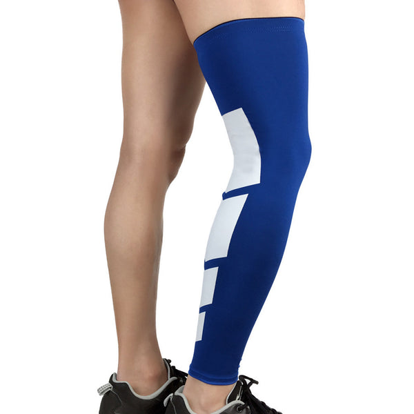 Compression Leg Sleeves Full Length Stretch Long Sleeve with Knee Support Non-Slip Inner Bands