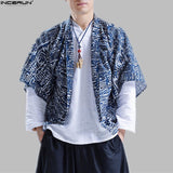 2018 Cotton Linen Shirts Man Summer Open Stitch Shirt Social Chinese Style Shirts Men Cotton Kimono Japanese Top Cardigan S-2XL