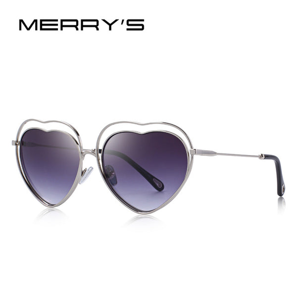 MERRY'S DESIGN Women Fashion Sunglasses Love Heart Frame UV400 Protection S'6520