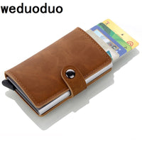 2018 Brand Credit Card Holders Business Men Card Holders Fashion RFID Card Cases Automatical Aluminium Bank Card Wallets