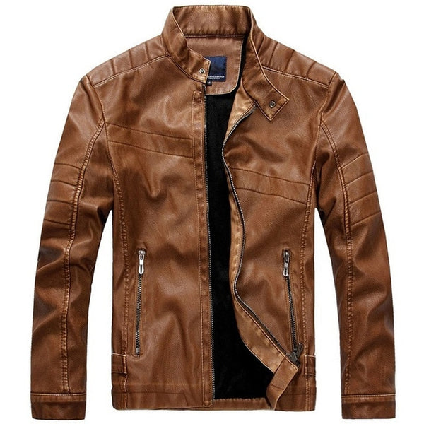 2018 New Autumn Winter Motorcycle PU Leather Jacket Men Jaqueta Couro Masculino Causal Coat Pilot Jacket Bomber Leather Jackets