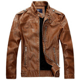 2018 New Arrivals High Quality Faux Sheepskin Leather Jacket Men Warm Suede Slim Short Coat Men PU Motorcycle Jacket S-XXL F036