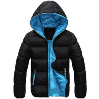 2018 Mens winter jacket men's hooded wadded coat winter thickening outerwear male slim casual cotton-padded outwear Jackets D243