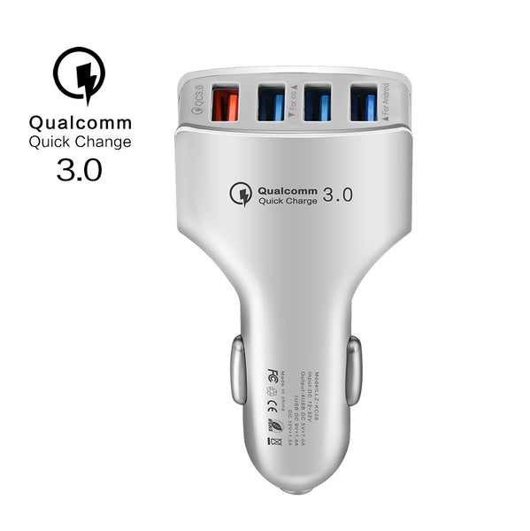 Powstro QC3.0 Car Charger Fast Quick Mobile Phone Charger Adapter 4 Port USB Car Charger Adapter Universal For iPhone Samsung