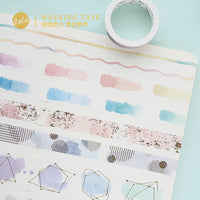 new watercolor gilding washi tape DIY decoration scrapbooking planner masking tape adhesive tape label sticker stationery