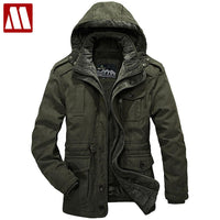 High Quality Casual Winter Jackets Men Cotton-Padded Jacket Brand Thick Fashion Warm military Coat Thick Hooded Windproof Parka