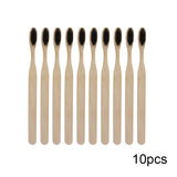 10PCS Environmentally Wood Rainbow Toothbrush Bamboo ToothBrush Bamboo Fibre Wooden Handle Tooth brush Whitening Rainbow