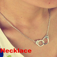 N2039 Handcuff Pendant Necklace For Women Men Steampunk Fashion Jewelry Lover's Collares FREEDOM Valentine's Day Gift HOT 2018