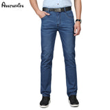 Free Shipping Men's Wear Jeans 2018 Spring And Summer New Jeans Business Casual Men's Cotton Denim Long Trousers D81