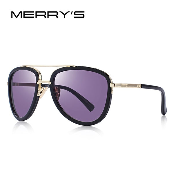 MERRY'S DESIGN Men/Women Metal Pilot Sunglasses Brand Designer Gradient Lens UV400 Protection S'6522
