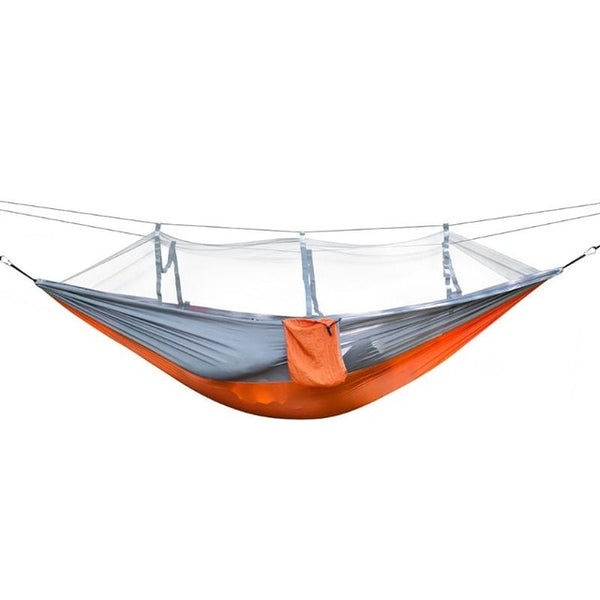 1-2 Person Outdoor Hammock Mosquito Net Camping Hanging Sleeping Bed Swing High Strength Home Garden Hanging Bed