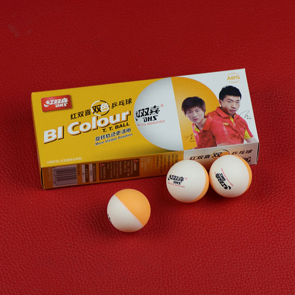 DHS BI Colour (2018 New) Table Tennis Balls (Double Color, China Super League, Seamed ABS 40+ Balls) Plastic Ping Pong Balls