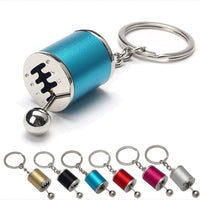 Novelty gearshift fob keyring gearbox gear shiift racing tuning model key 6 Speed Manual chain ring Alloy auto accessorires