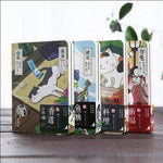 """Japanese Cat ver.2"" Cute Monthly Planner Agenda Study Notebook Pocket Diary Freenote Travel Journal Stationery Gift"