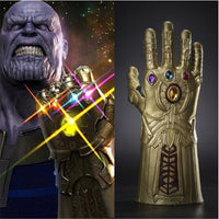 Thanos Infinity Gauntlet Avengers Infinity War Gloves Cosplay Superhero Avengers Thanos Glove Halloween Party Props Deluxe