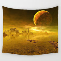 150*130  Night Scenic Tapestry Wall Hanging Decor Star Plant Printed Carpet Home Decor Hanging Living Printing Wall Tapestry