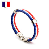 World Russia mexico 2018 spain National Flag Leather france Wristband Nigeria Bracelets soccer BRAZIL jerseys dropshipping