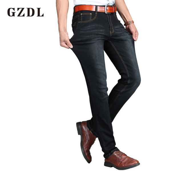 Summer Jeans Men's Trousers Thin Section Young Men's Business Casual Trousers Stretch Pants Fashion Brand Jeans CL4659.