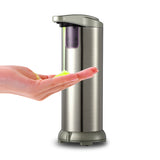 280lm Automatic Liquid Soap Dispenser Stainless Steel Sensor Soap Dispenser Pump Shower Kitchen Soap Bottle for Bath/Washroom