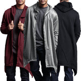 2018 Casual Hip Hop Men Long Mantle Hoodie Irregular Hem Hooded Sweatshirt Poncho Coat Cloak Male Hoody Jackets Plus Size 3XL