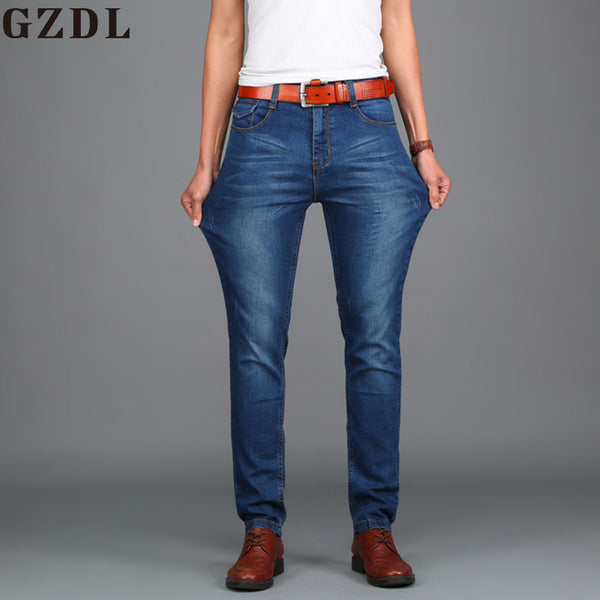 Summer Jeans Men Straight Men's Pants Youth Men's Business Casual Trousers Large Stretch Pants Size 28-48 CL4658.
