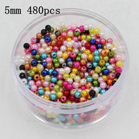 High Quality 4-20mm Ivory/White/Multi Color ABS Pearl Cabochon Round Imitation Pearls Beads Fit DIY Bracelet/Jewelry Making