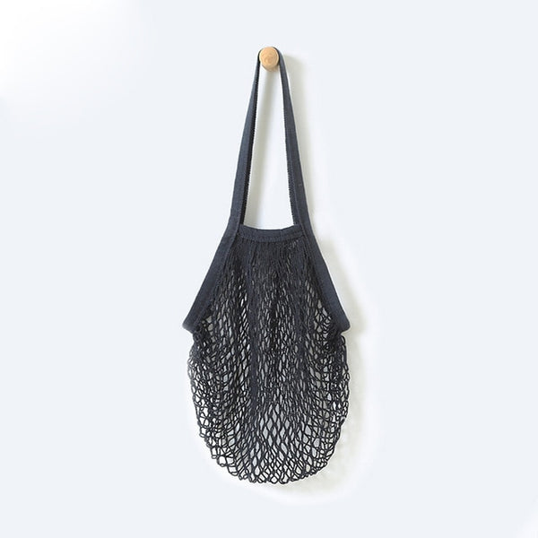 Reusable Fruit String Shoulder Bags Grocery Shopper Tote Mesh Woven Net Shoulder Bag Kadin Canta Unisex Shopping Bags#090