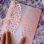 Hemere Making Scrapbook Greeting Card Decor Lace Hollow Frame  Metal Cutting Dies Stencil Frame Embossing Template