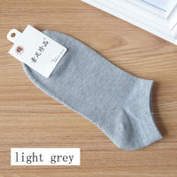 10Pcs=5Pair Solid Cotton Socks Men Invisible Ankle Socks Men Breathable Thin Boat Sock No Show Socks Size EUR 38-42