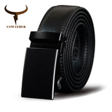 COWATHER Men Belt Cow Genuine Leather Male Strap Cowskin Automatic Buckle Belts Cowhide Alloy Buckle Men Straps Newest Waistband