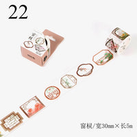 Cute Flower Washi Tape Kawaii Vintage Retro Decorativ Adhesive Tape DIY Masking Tape For Scrapbooking Photo Album Home Decor