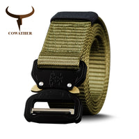 COWATHER nylon belt newest men belts military outdoor tactical male jeans belts for men luxury casual male strap 130 150 170cm