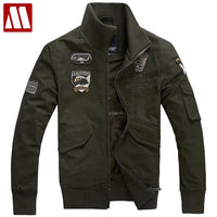 2018 European and American men's latest Air Force One military uniform jacket frock jacket cotton jackets eagle big yards S-4XL