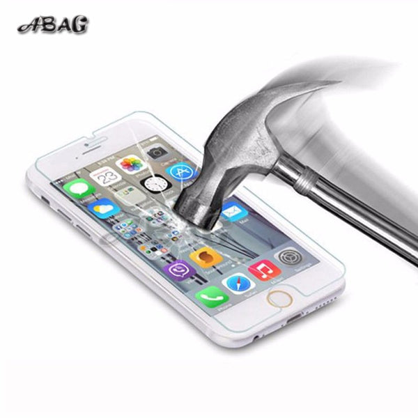 ABAG  for iPhone X Tempered glass for iPhone 6 6S 7 8 Plus Screen protector glass film for iPhone 5 SE 5C 4 Explosion-proof film