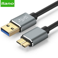 llano USB 3.0 Type A Micro B USB3.0 Data Sync Cable Cord for External Hard Drive Disk HDD Samsung S5 USB-C hard drive cable