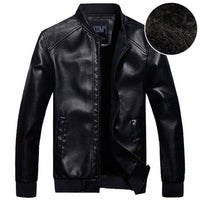 2018 New Fashion Mens stand collar motorcycle PU Leather clothing men's leather jacket male outerwear Jackets Asia S-XXXL C515