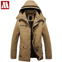 2018 Wintet Casual Mens Fur winter Coats Army Green Outwear Military Man thick Cotton Jackets, Winter Jacket Men Parka Thermal
