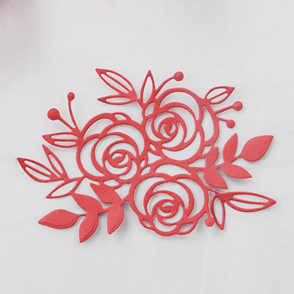 DUOFEN 2018 New flower metal Cutting Dies Stencils for DIY Scrapbooking stamping Die Cuts Paper Cards craft knurling dies