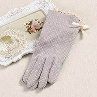 1Pair Using in Spring and Summer Female Gloves Short Cotton Sunscreen Thin Women Summer Gloves