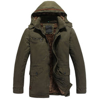 2018 Winter brand men's clothing Military Jacket with hood Army Camouflage Coat cotton warm coats solid plus size Outerwear 4XL