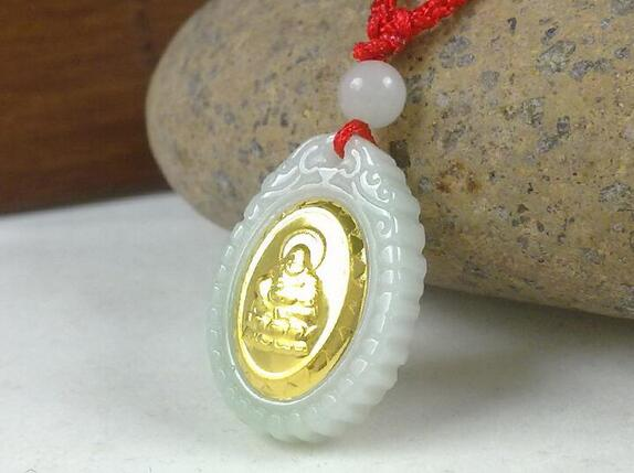 2017 Discount Good Quality Bouddha Jade Necklace Pendants On Hot Sales