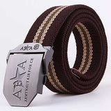 2018 New Unisex Buckle belt thicken canvas Men's Communist military belts Army tactical belt Casual strap For Men Women C414-5