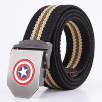 2018 New Men Belt Thicken Canvas New York shield belts Military girdle Army Tactical Belt High Quality Strap 110 140 cm 10 Color
