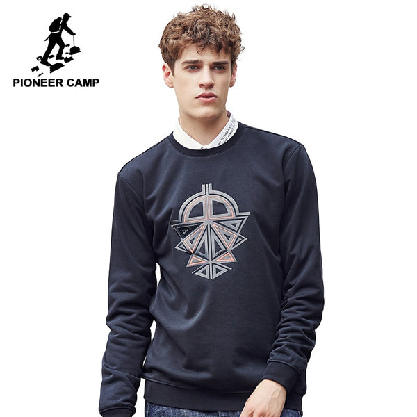 Pioneer Camp Hoodies Men Hip Hop cool Mens Brand clothing male Hoodie Sweatshirt Slim Fit color Black red wine 699029