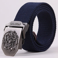 2018 New arrival men's canvas belt tiger buckle military belt Army tactical belts for Male top quality men strap free shipping