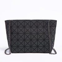 New Women Chain Shoulder Bag Luminous sac Bao Bag Fashion Geometry Messenger Bags Plain Folding Crossbody Bags Clutch bolso