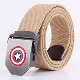 Great Quality Mens Canvas Military Belt Batman thicken Army tactical belts Male strap Black Knight Bat belt men Free Shipping