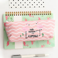 1Pcs Kawaii Pencil Case Unicorn Flamingo Canvas Gift Estuches School Pencil Box Pencilcase Pencil Bag School Supplies Stationery